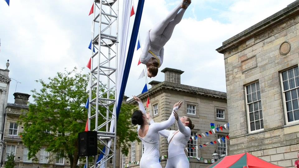 Acrobatic Trio, Olympic Torch Relay