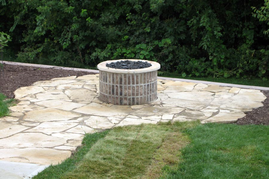 Cylindrical Brick Fire Feature