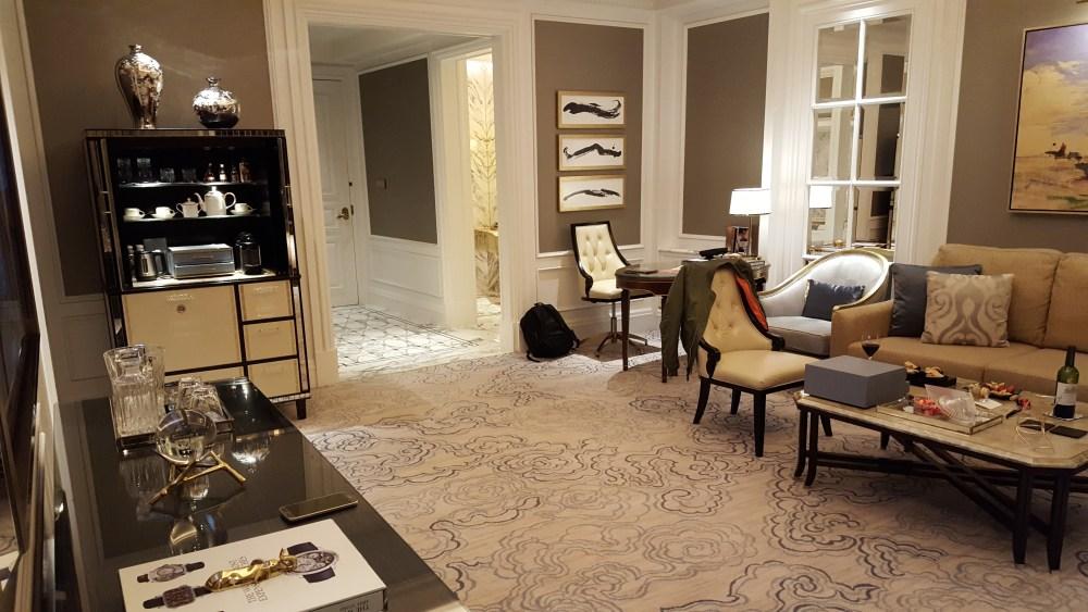 ritz carlton suite macau living room