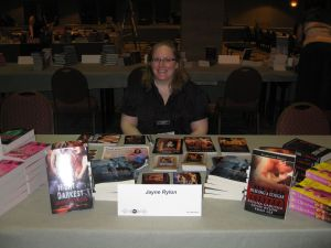 Jayne at the Print Book Signing