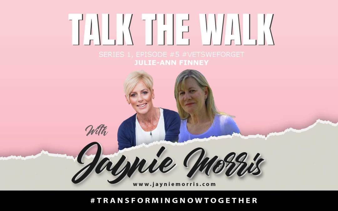 TalkTheWalk Podcast Julie-Ann Finney With Jaynie Morris