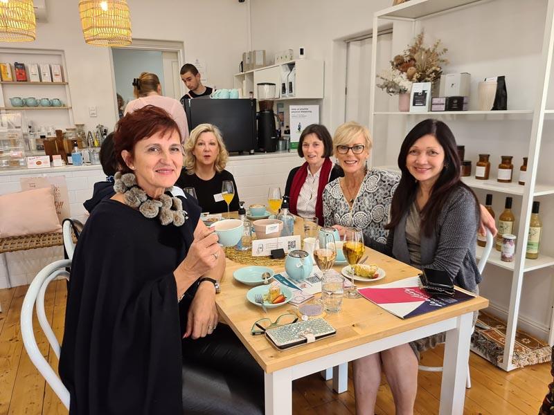 Genevieve, Jaynie Table Biggest Morning Tea