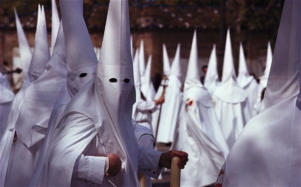 AX9AG2 Holy Week Procession, Semana Santa, Seville Andalusia, Spain
