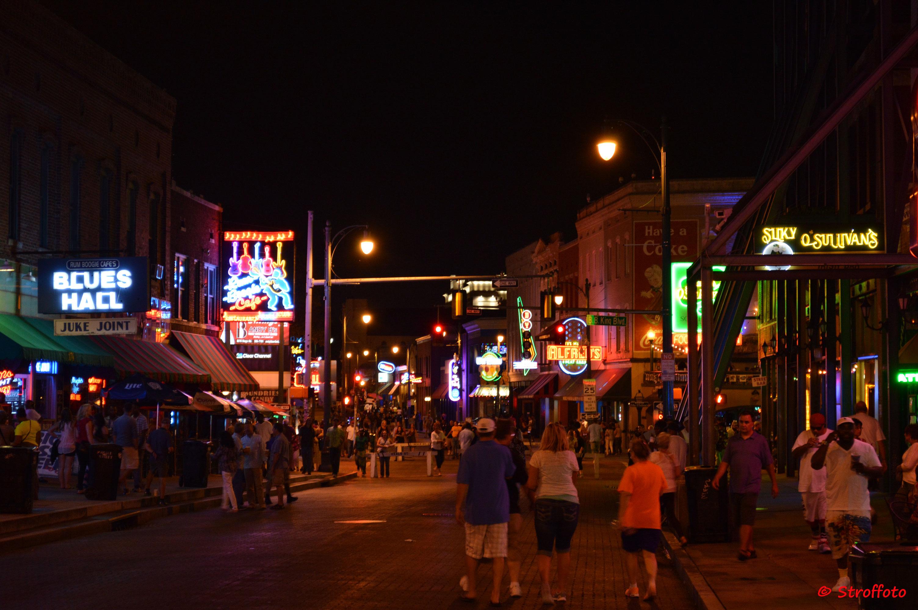 Beale St. Memphis At Night