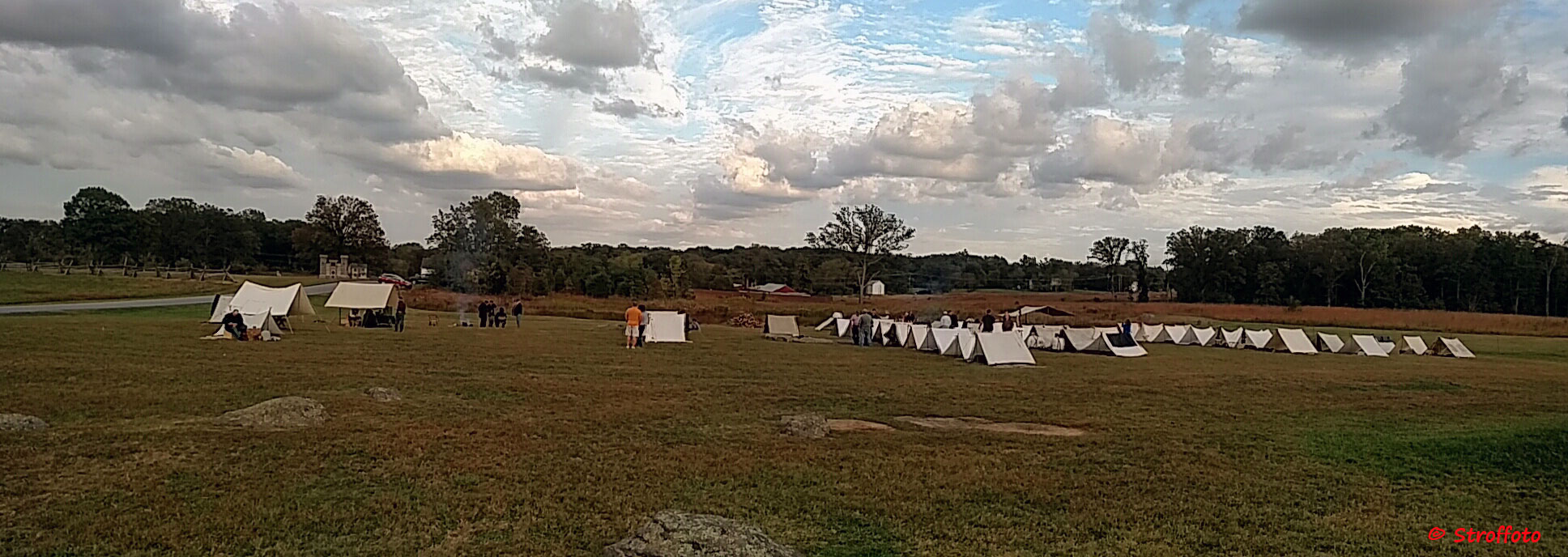 Soldiers at camp in Gettysburg