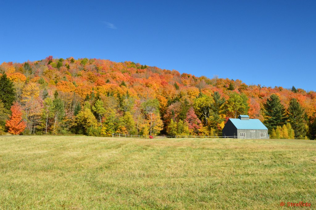 Fall Landscape with barn in Vermont