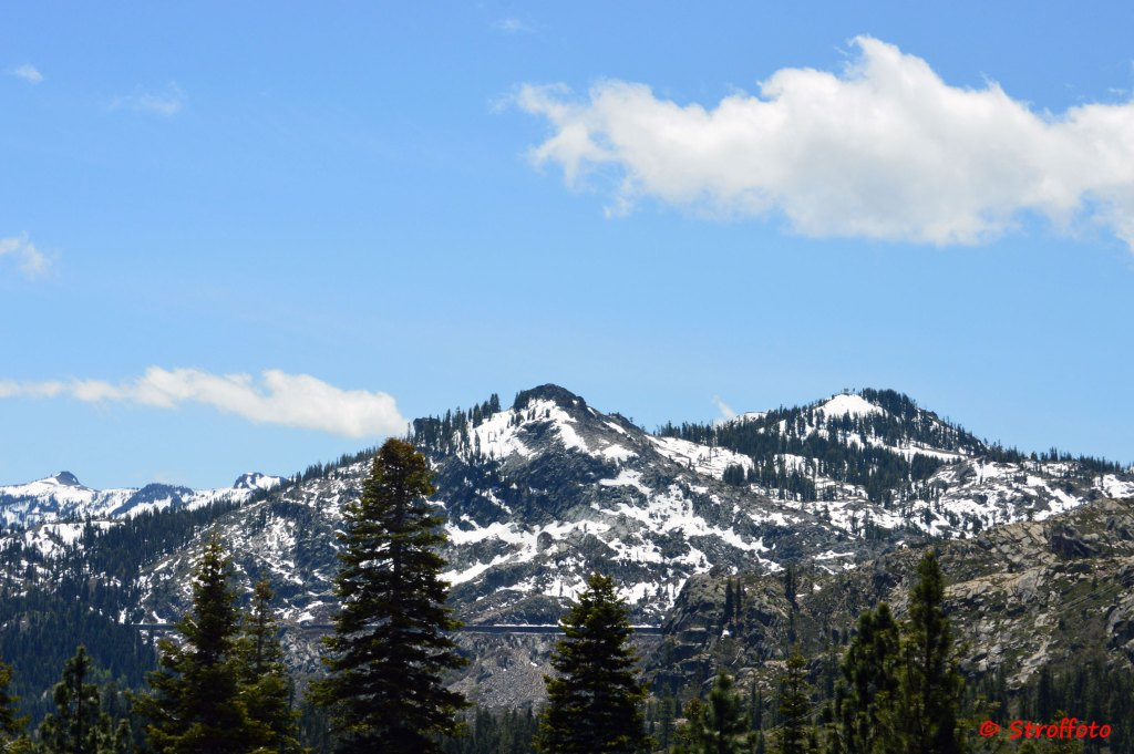Lake Tahoe Snow Capped Mountains