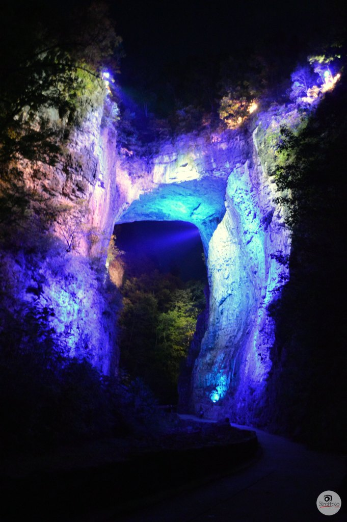 Lightshow on the Natural Bridge in Virginia