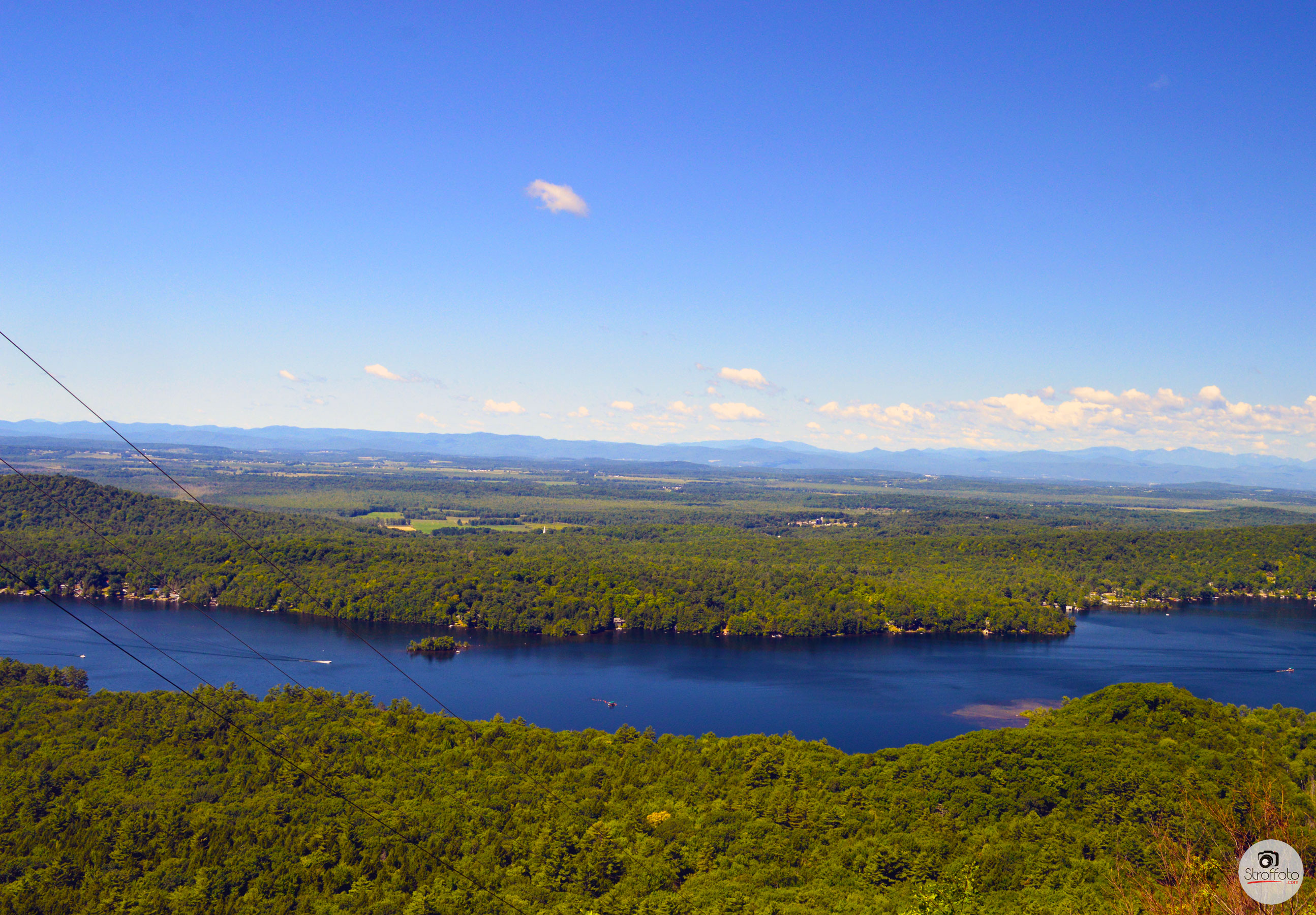 Lake Dunmore from Lenny's Lookout