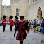 "The Yeomen Wardens ""Beefeaters"" at the London Tower"