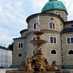 Fountain At Residenzplatz Salzburg