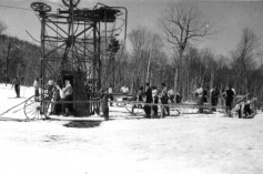 Jay Peak - Base of Poma Lift, to right of Open Slope - circa 1959