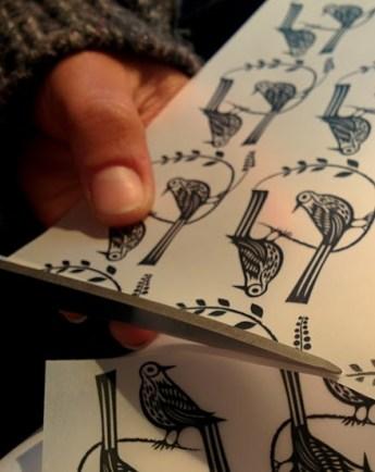 Preparing Handmade Printed Paper