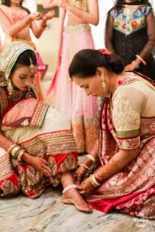 Gujarati bride the wedding salad on Wedmegood1