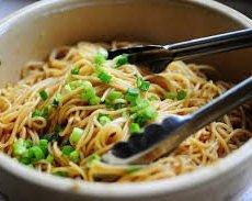 Sesame-Peanut Noodles, Roasted Tofu, Braised Greens (for 1)
