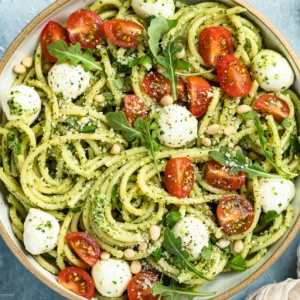 Pesto Primavera with Plethora of Roasted Summer Veggies (for 1)