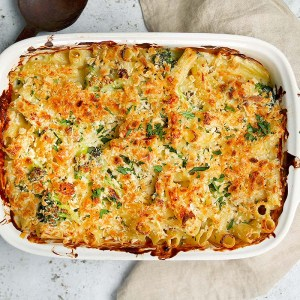 St. Patty's Day Pasta Bake with Irish Cheddar, Spinach, Asparagus, Broccoli (for 1)