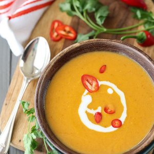 Thai Curry Acorn Squash Soup with Coconut (for 2)