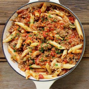 Marcella Hazan's Pasta with Angus Beef Bolognese Sauce (for 1)