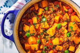 NY Times' Vegetarian Chili with Sweet Potatoes and Chick-Peas (for 1)