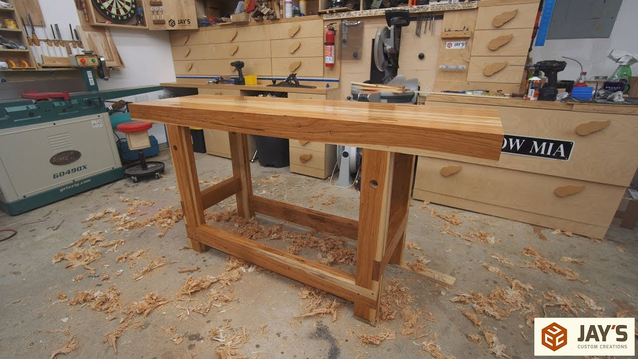 A Hickory Woodworking Workbench Jays Custom Creations