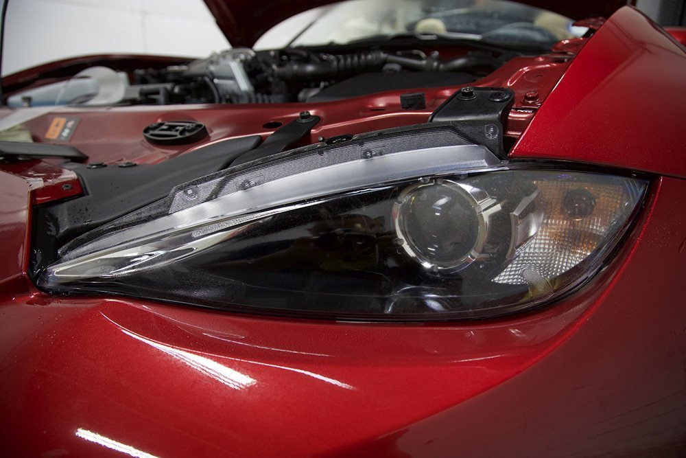 Mazda Miata Headlight clear bra