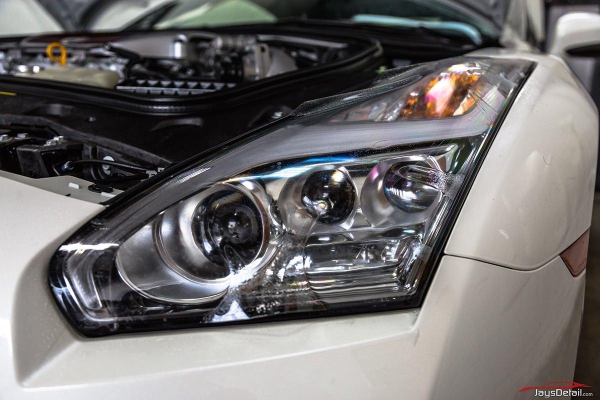 Nissan GTR headlight ppf