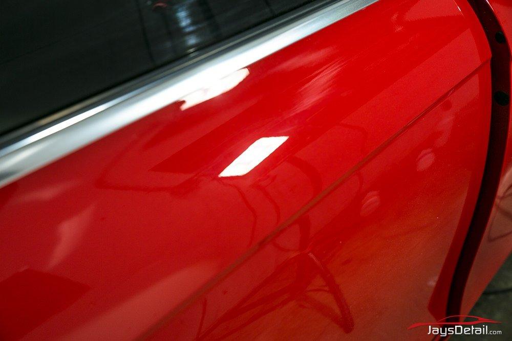 Audi S4 door after