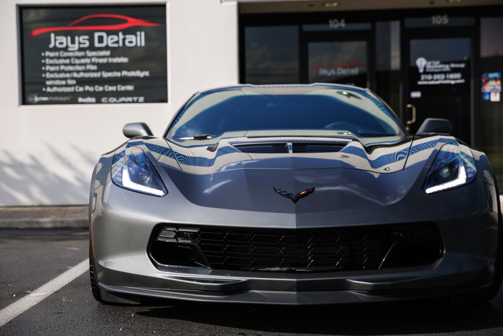 Menacing C7 Corvette Z06 gets Protected