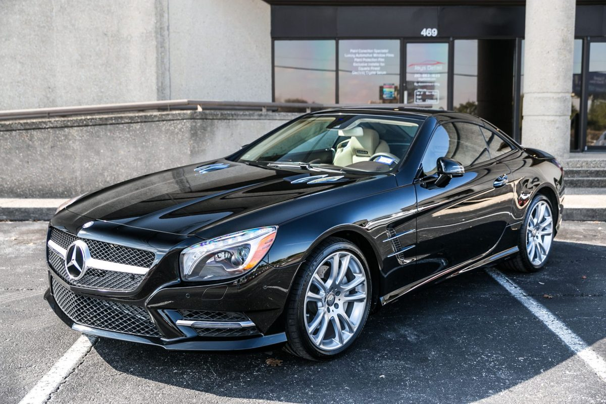 Mercedes Sl400 Receives Paint Correction And Cquartz Finest Treatment Benz