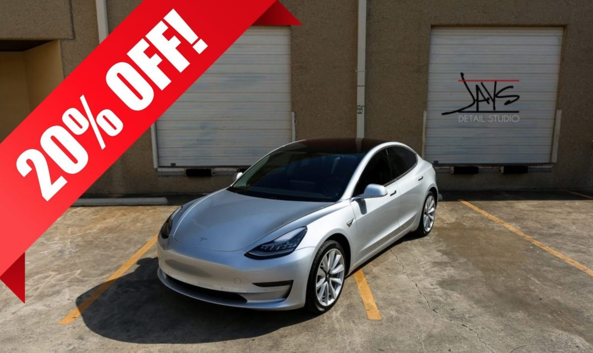 Tesla Promotion - 20% OFF Window Tint Sale in San Antonio, Texas - Automotive Window Tinting Services in San Antonio and Austin, Texas