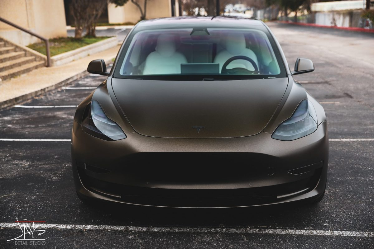 3M Crystalline Window Tint and Vehicle Wrap Transform this Tesla Model 3 - Window Tinting, Vehicle Wrap and Ceramic Vehicle Coating in San Antonio and Austin, Texas