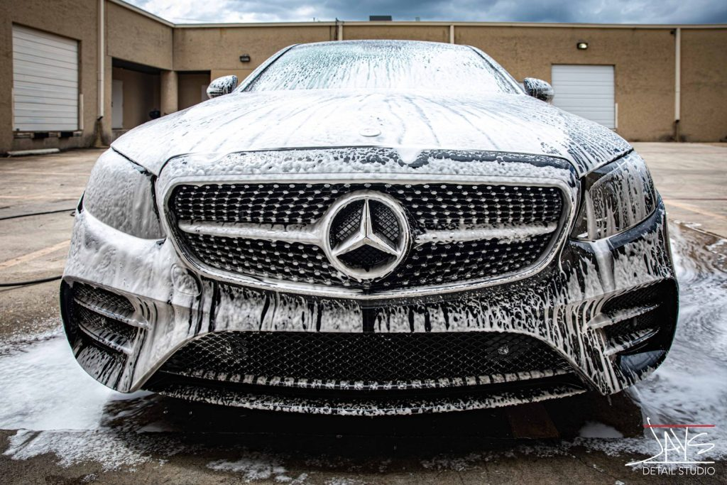 Mercedes E43 AMG Receives Paint Correction and Cquartz Coating 2