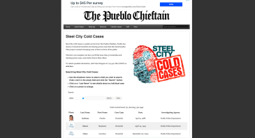 Cold case database