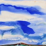 Big Sky Watercolor inspired by Larry Welden