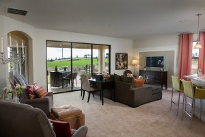 Hideaway Model Family Room at ChampionsGate