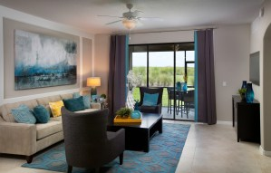 Augusta Model Living Room at ChampionsGate