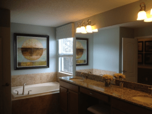 Alexander Palm Model Master Bath at Storey Lake