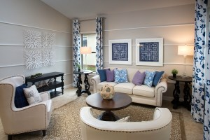 Sand Dollar Model Living Room at ChampionsGate