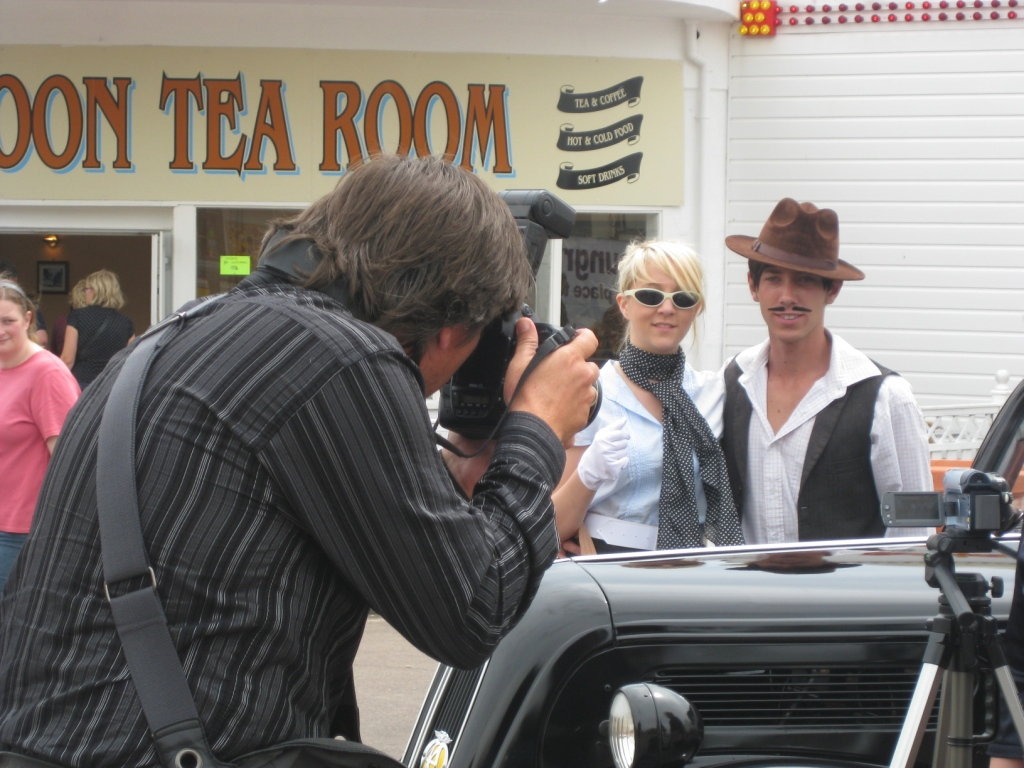 The East Anglian Daily Times photographs the film shoot