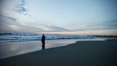 na plaży
