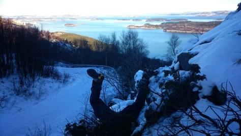 wydobywanie kesza w drodze na Lifjell