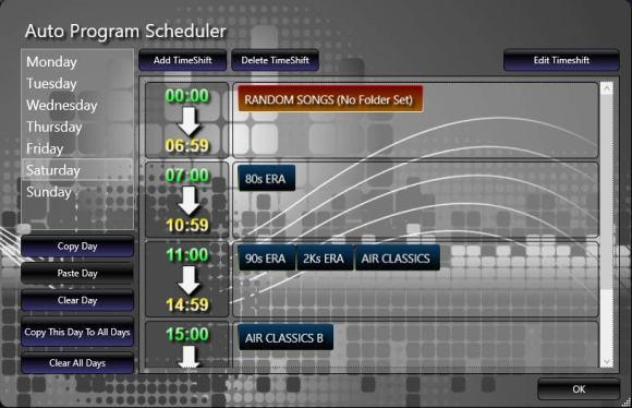 auto program scheduler saturday
