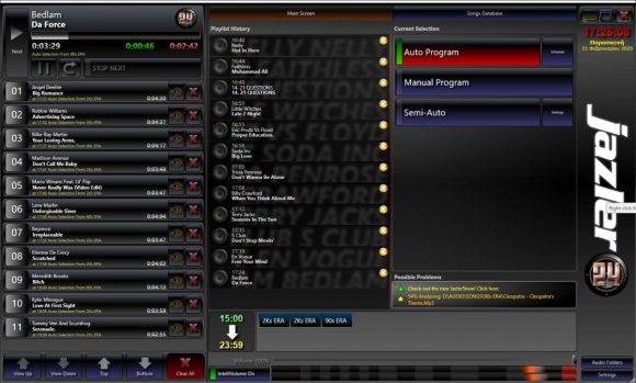 Jazler24 main screen