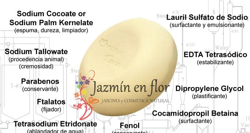 Ingredientes del jabón industrial Jazmín en flor