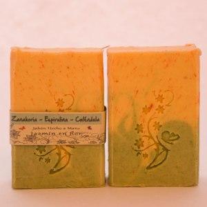 Jabón natural de zanahoria y espirulina