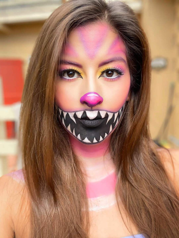 Cheshire Alice in Wonderland Cat Makeup