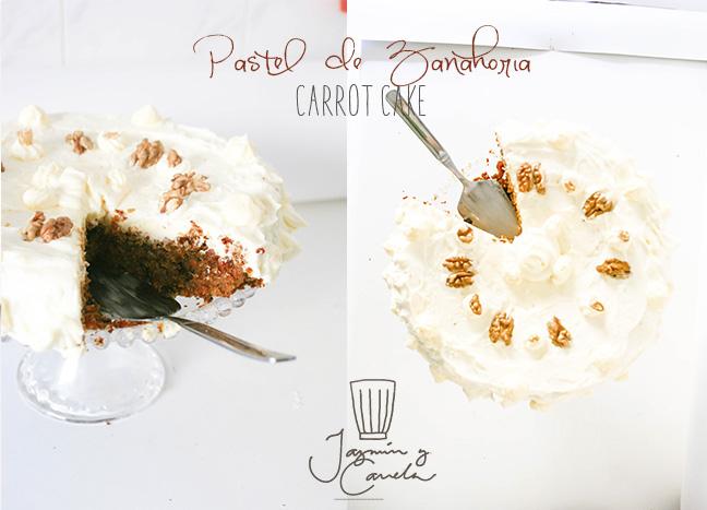 carrot cake Pastel de zanahoria , con Frosting de queso, chees