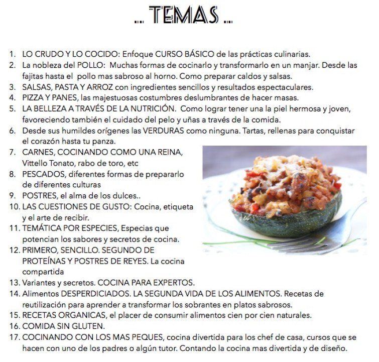 cociando con Andrea TEMAS 1