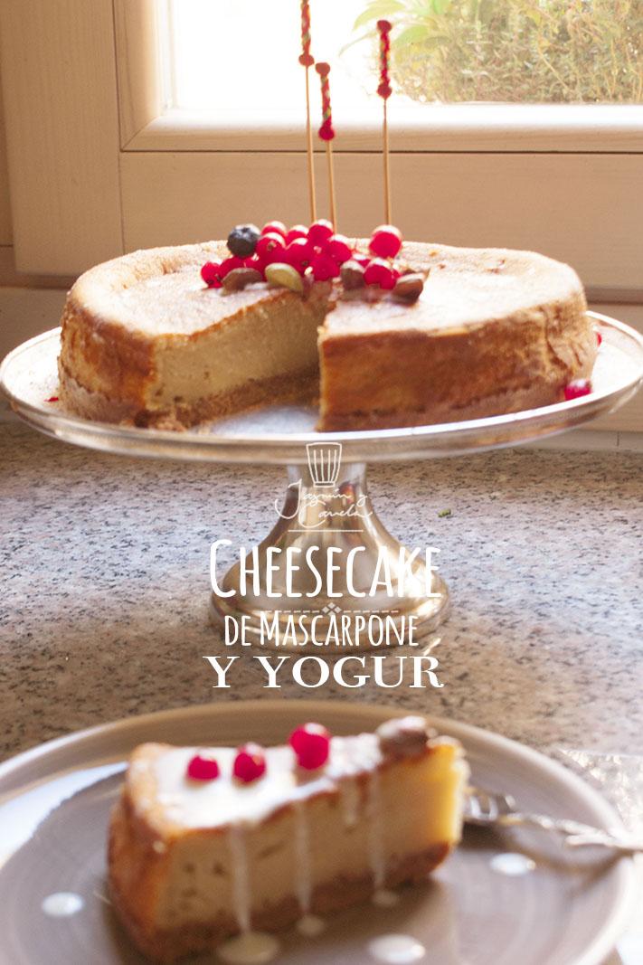 La mejor receta de CHEESECAKE: Tarta de Queso Mascarpone y Yogur